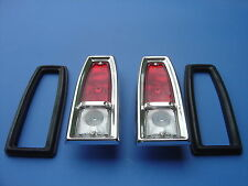 1966-1967 NOVA TAILLIGHT ASSEMBLY COMPLETE WITH LENSES-PAIR-NEW