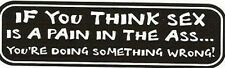Motorcycle Sticker for Helmets or toolbox #915 If you think sex is a pain in the