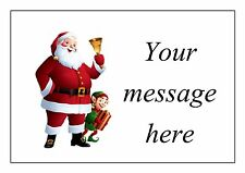 63 personalised stickers address labels tags -  santa father christmas xmas elf