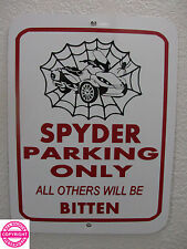 CAN-AM SPYDER ST LIMITED WEB METAL PARKING SIGN