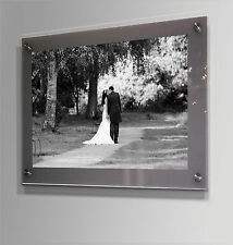 "WALL MOUNT 12x16"" 10MM CHESHIRE ACRYLIC PHOTO FRAME for a 8X12"" / A4  picture"