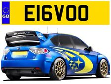 E16 VOO MITSUBISHI LANCER EVOLUTION EVO WRC TURBO PRIVATE NUMBER PLATE LANCA