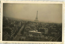 PHOTO ANCIENNE - VINTAGE SNAPSHOT - TOUR EIFFEL RUE TOIT PARIS - STREET ROOF
