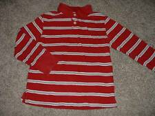 The Children's Place Boys Red Striped Polo Shirt Top Size Small 5 6 yrs Fall