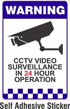 Warning CCTV Security Surveillance Camera Adhesive Sticker Sign 200x300mm