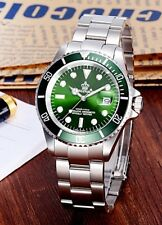 U.K. Green Reginald Quartz Stainless Steel Sports Divers Watch