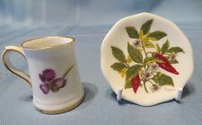 Lot Shadow Box Doll House Miniature Hammersley Violet Cup British Exchange Plate