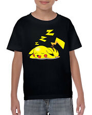 Sleepachu Kids Unisex T-Shirt Pokemon Inspired Tee Go Game Pikachu Top Gym