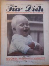 FÜR DICH Nr. 41 - 1928/29 Vobachs Unterhaltungsblatt Lachen ist gesund Mode