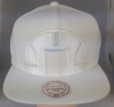 L.A Clippers White on White Cropped XL Logo Snapback by Mitchell & Ness
