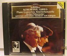 Schumann Grieg Piano Concertos Zimerman Karajan DG/ Karajan Gold NM CD Image bit