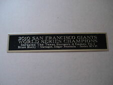 Giants 2010 World Series Nameplate For A Baseball Jersey Display Case 1.5 X 6