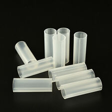 4 Pcs Plastic 18650 Battery Tube For Flashlight Torch Lamp Light White 6 cm XJUK