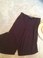 STUDIOM Studio M Brown Elastic Waist Rayon Blend pants Size Medium NICE (gt1)