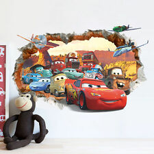 Large 3D Cars Cracked Wall Stickers PVC Vinyl Decals Baby Boys Room Home Sticker