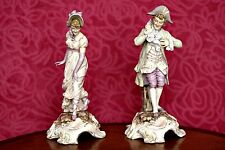 A Pair of Rare Antique 'Von Schierholz of Plaue' Figurines, Thuringia, Germany