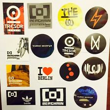 30 x Berlin Ibiza Techno Club Stickers  - Berghain Watergate Tresor Time Warp