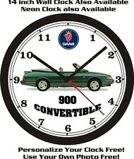 SAAB 900 CONVERTIBLE WALL CLOCK-FREE USA SHIP!