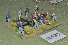 25mm american civil war ACW union artillery 2 guns & crews (12539)