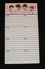 VINTAGE - BEATLES - SCHOOL LESSON ASSIGNMENTS TABLET PAGE Rock n Roll Music Band