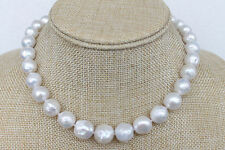 Gorgeous White Kasumi-like Winkled Pearl Necklace