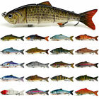 "4.8"" Multi Jointed Bass Striper Crappie Fishing Bait Swimbait Lure Life-like"