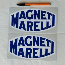 Magneti Marelli stickers decal 200mm long 1 pair Motor Race Rally Rallying fiat