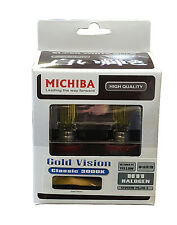 Michiba H11 12v 55w 3000K Gold Vision Bulbs (Yellow)