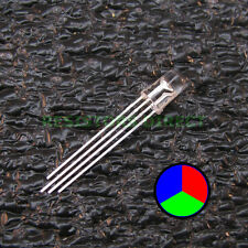 100pcs RGB LED Water Clear Lens 5mm Common Cathode 4-Pin Red Green Blue 100x V34