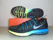 New Nike Air Max Dynasty Premium Black Blue Green Running Shoes sz 10