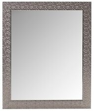 Modern Silver Mosaic Esk Rectangle Wall Mirror NEW Bathroom Hall Bedroom 60x50cm