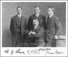 Photo: Portrait Of Surviving Officers Lightoller Pitman Boxhall Lowe RMS Titanic