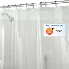 Shower Curtain Liner Clear Vinyl Mold Mildew Resistant Water Repellent Odorless