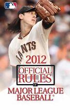 2012 Official Rules of Major League Baseball