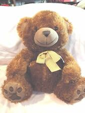 """15"""" Brown Teddy Bear Soft & Loveable with a Beige Bowtie, Brown/Black Eyes,NICE"""