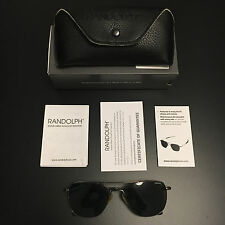 Randolph Engineering  Aviator Sunglasses / Gunmetal /AGX Green Lenses/ 55 /Skull