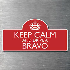 Keep calm drive a Bravo sticker quality 10 year water/fade proof vinyl Mazda