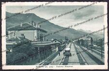 AOSTA CITTÀ 109 INTERNO STAZIONE - TRENO - FERROVIA Cartolina VIAGGIATA 1940
