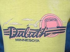 vintage 80s DULUTH MINNESOTA BEACH SUNSET FADED DISTRESSED PAPER THIN T-Shirt XS