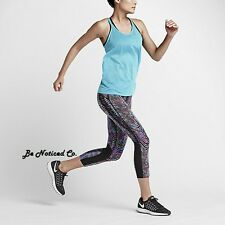 Nike Sidewinder Epic Lux Women's Running Crops M Multi Gym Capris Training New