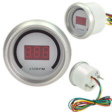 "Car 2"" 52mm Red Digital Color 20 LED Tacho Tachometer RPM Gauge Meter SL"