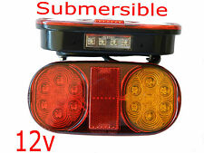 12v Led Tail Lights Lamp Trailer Boat Ute Truck Number No Plate Waterproof Pair