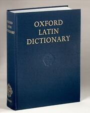 Oxford Latin Dictionary (1983, Hardcover)
