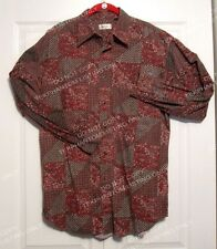 Bugle Boy Co. Mens Vintage Paisley Designer Shirt XL Style Cotton Long Sleeve