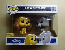 Funko POP Lady & The Tramp Disney Hot Topic Exclusive Vinyl Figure 2 Pack *RARE*