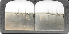 Keystone Stereoview of the Flettner Rotor Ship in New York Harbor c1926