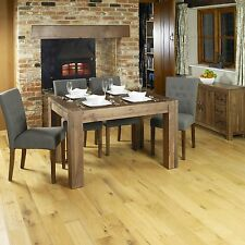 Shiro solid walnut dining room dark wood furniture four seater dining table