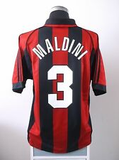 Paolo MALDINI #3 AC Milan Home Football Shirt Jersey 1998-2000 (L)