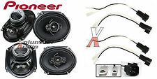 Pioneer Ts-A6886R 6X8 Speakers With Wiring Harness Fits Ford 2 Pairs 60Watt Rms