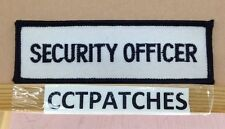 SECURITY OFFICER TAG OR TAB (POLICE) BLACK/WHITE PATCH